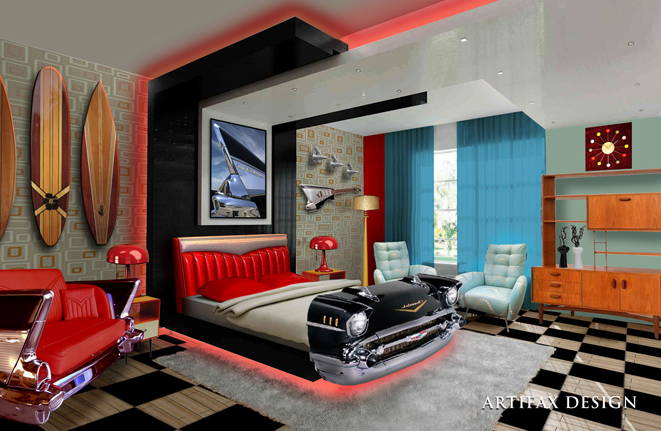 New Retro Hotel Room - Click on image for a larger view.